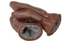 Handgjord Handske i älgskinn brun