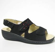 Charlotte of Sweden sandal i nubukskinn