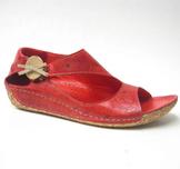 Charlotte of Sweden sandalsko i skinn röd