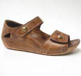 Charlotte of Sweden sandalsko i skinn brun