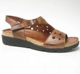 Charlotte of Sweden sandal i skinn brun